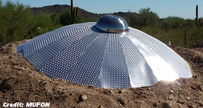 UFO Model Created for MUFON's Arizona Desert Boot Camp