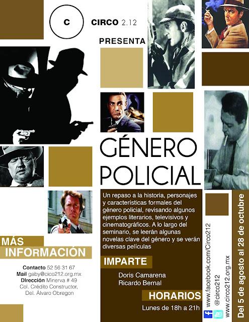 Seminario sobre el género policial en el cine, la literatura y televisión