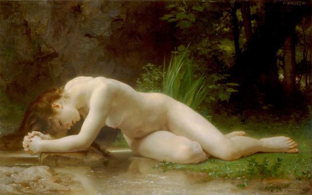 D.W.C. Nude Woman - Artist William-Adolphe Bouguereau