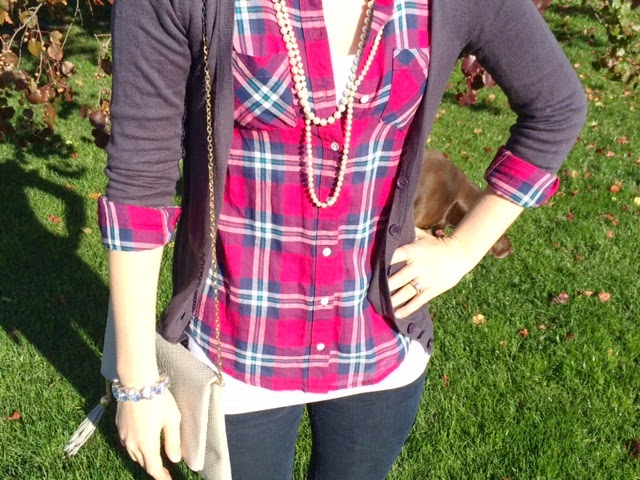 Plaid and Sweater Outfit
