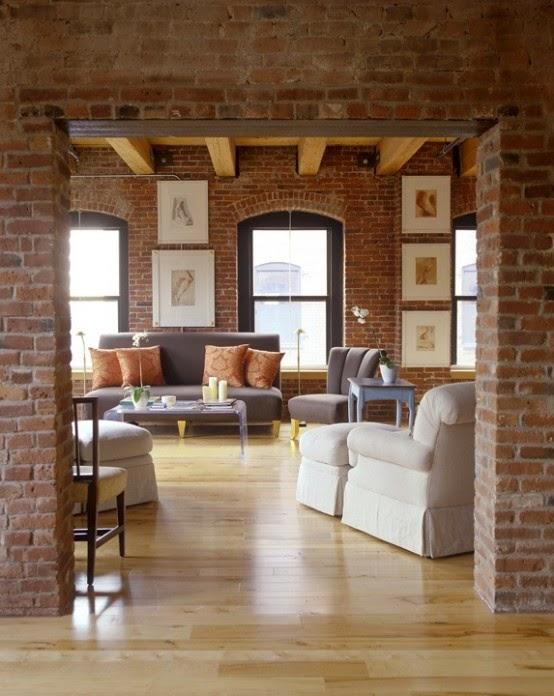 Conseils D Co Et Relooking Salons Attrayants Avec Un Mur De Brique