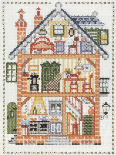 Cross stitch dollhouses casa de munecas - Casa de munecas ...