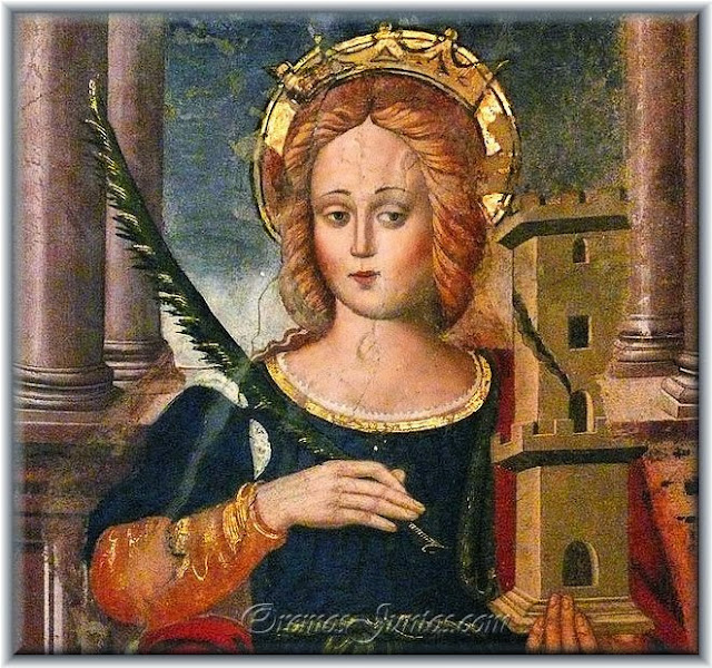 virgen santa barbara: