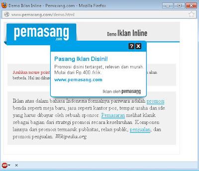 Iklan Inline indonesia