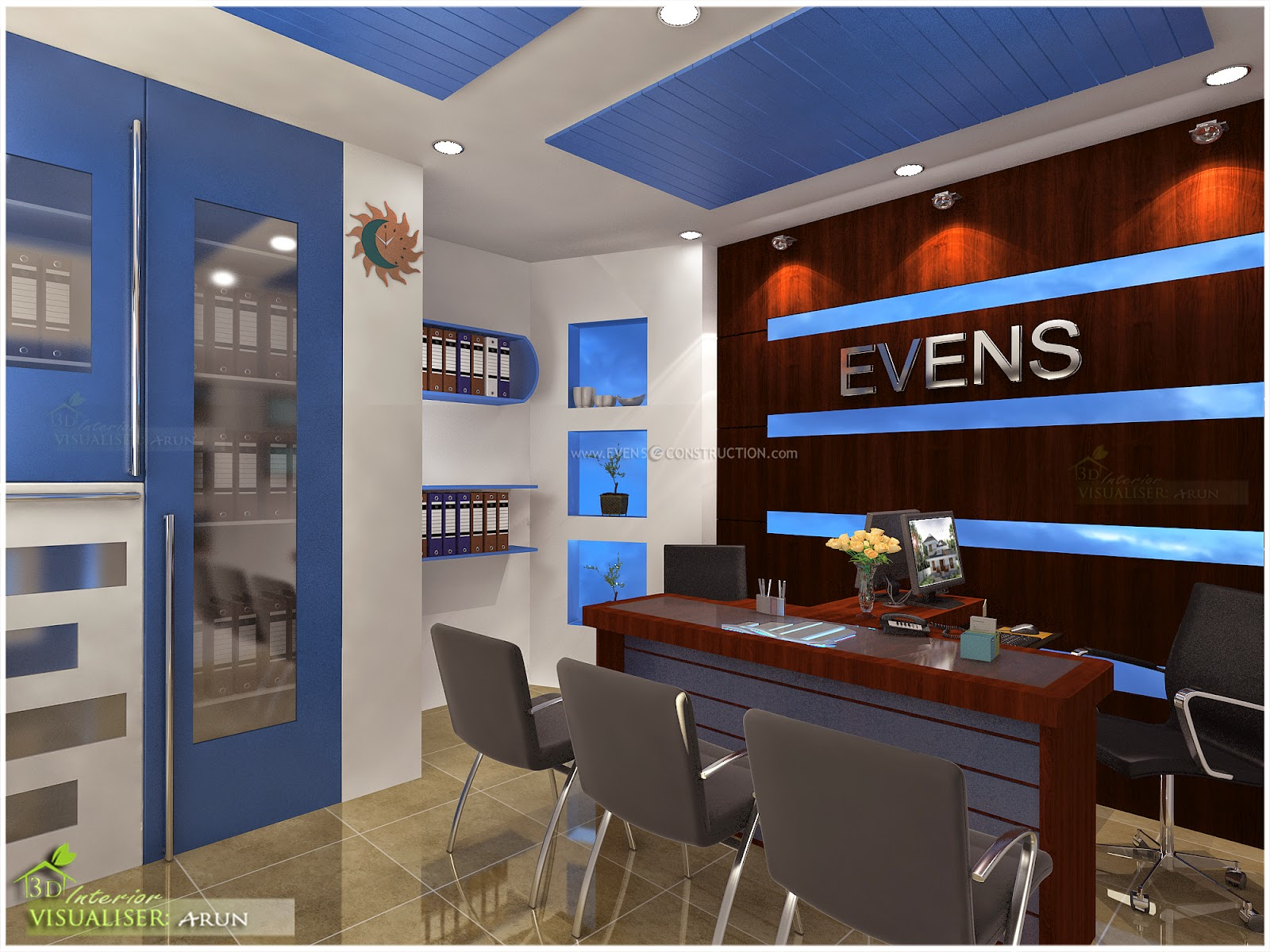 Evens construction pvt ltd beautiful office designs for Beautiful office design
