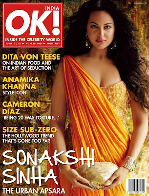 sonakshi sinha on cover ok magazine