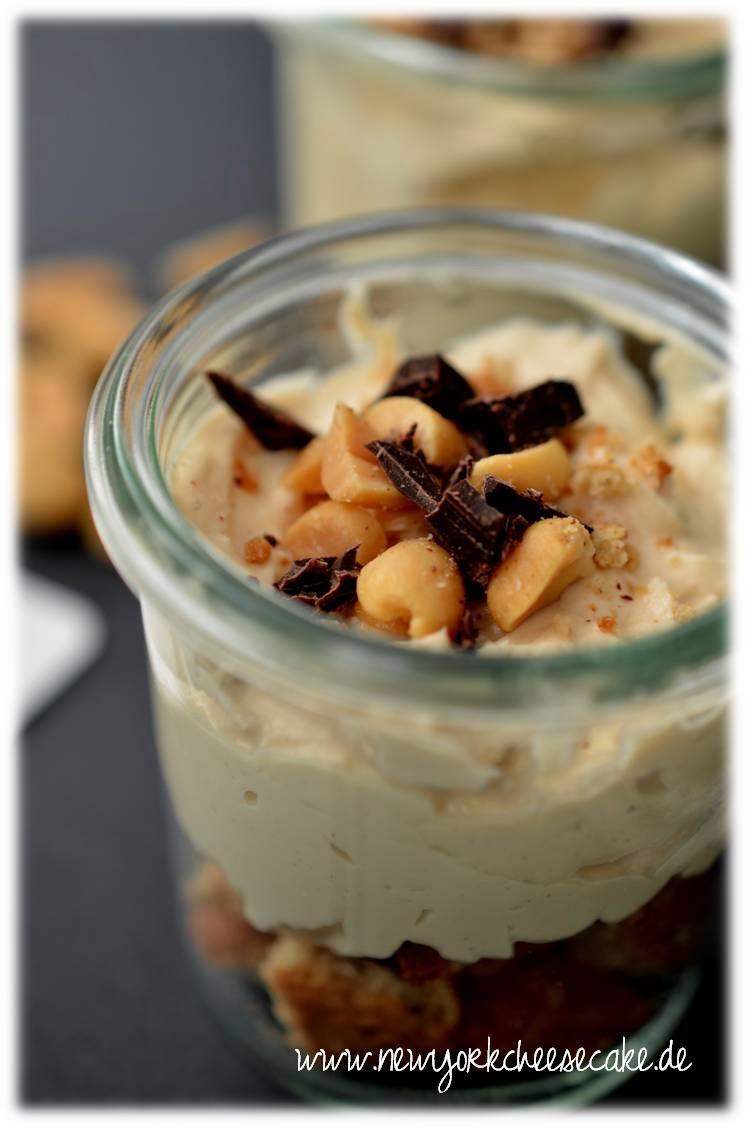 American Cheesecake, Erdnussbutter, Trifle, nobake