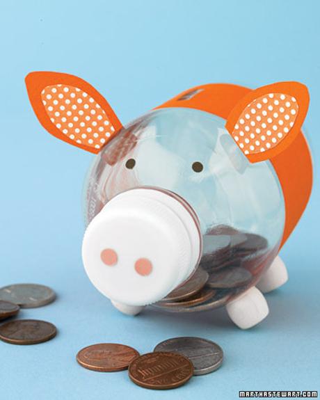 Cómo hacer una chanchita para guardar las monedas