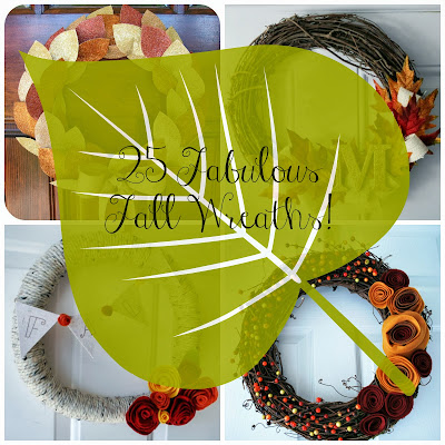 25 Fabulous Fall Wreaths of all Kinds at It's Always Ruetten