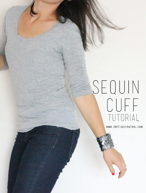 Sequin Cuff Sewing Tutorial