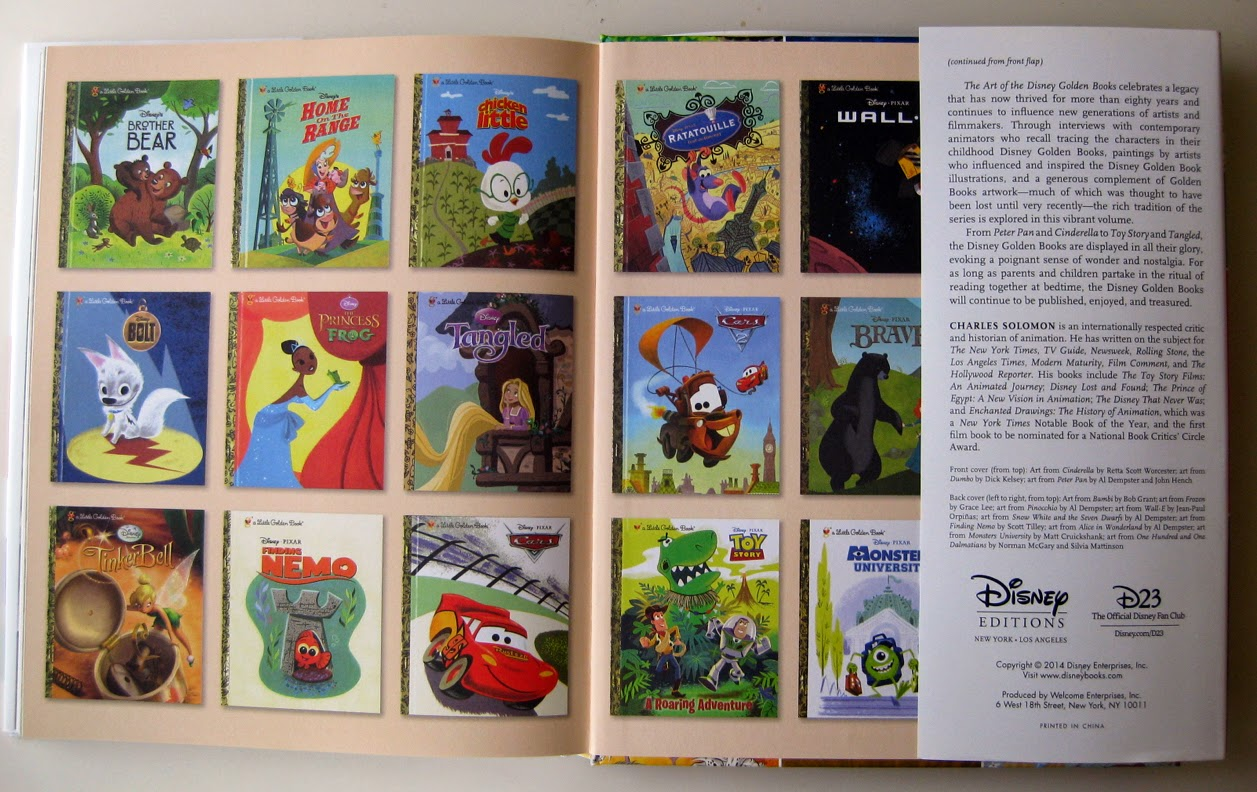 Inside pages from Disney Editions book The Art of the Disney Golden Books