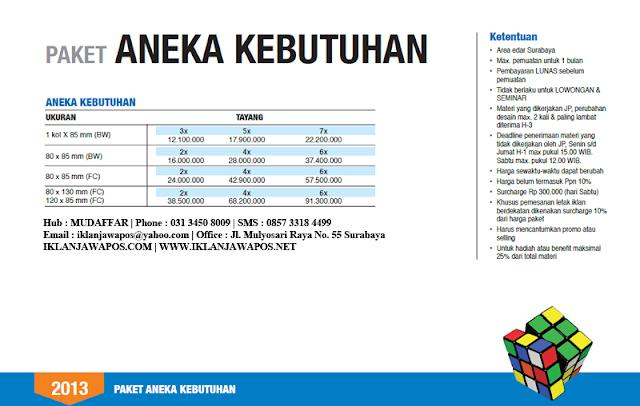 Jawa Pos Iklan Paket Aneka Kebutuhan 2013