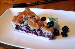 Blackberry madeira pie 