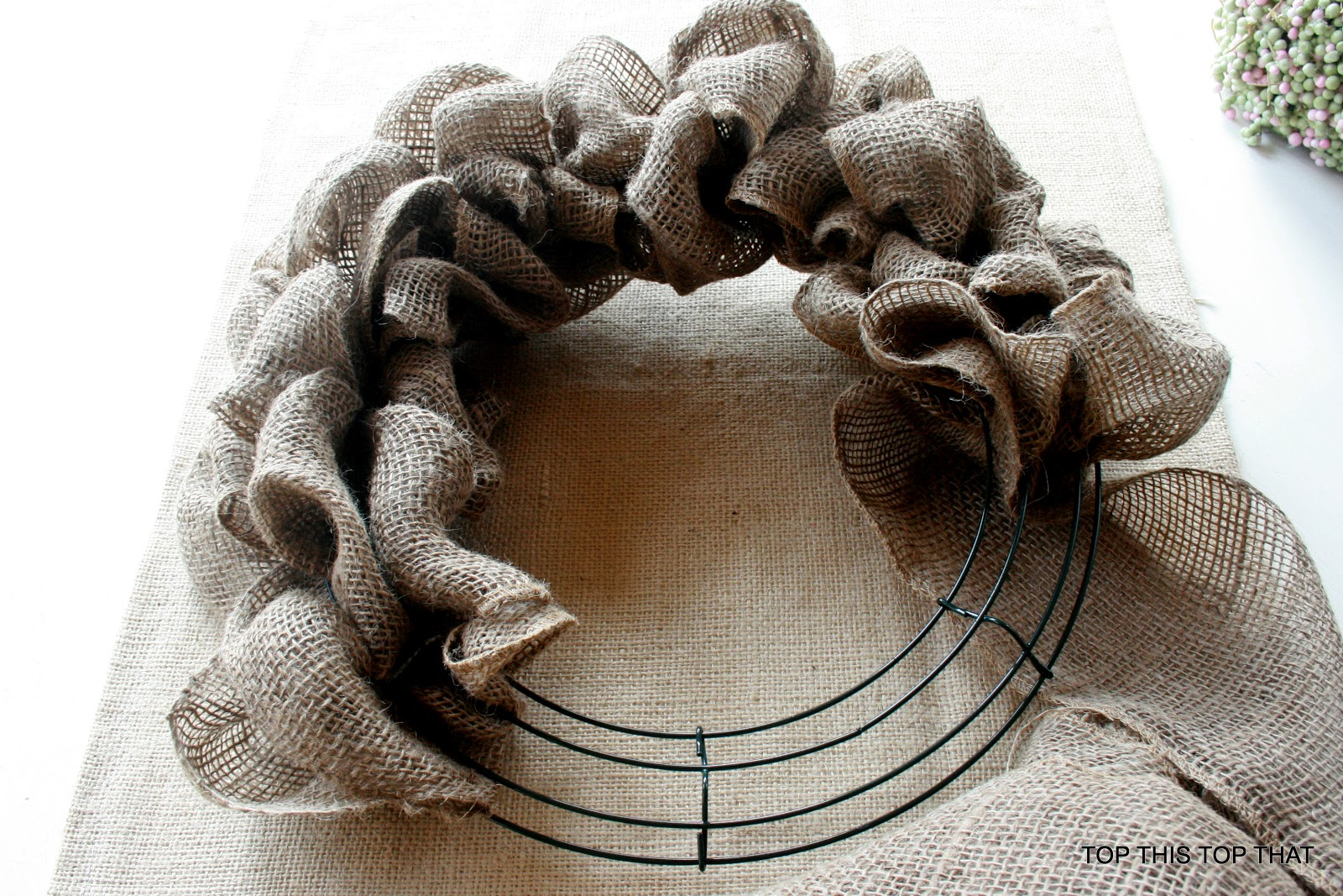 Ideas additional instructions for original burlap wreath for What to make with burlap