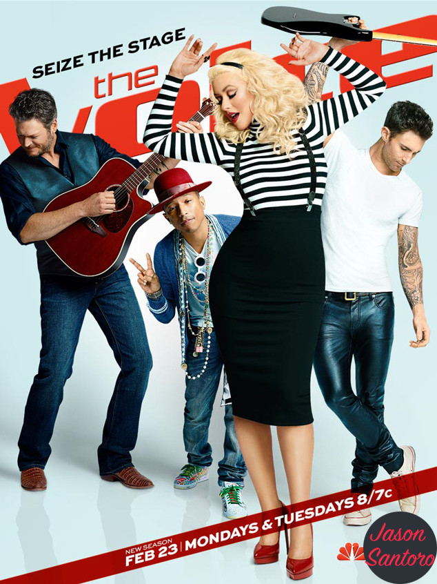 Christina Aguilera The Voice Season 8 poster