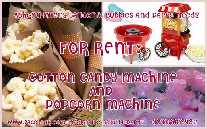 popcorn and cotton machine rentals