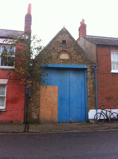 Boarded up building in Jericho, Oxford