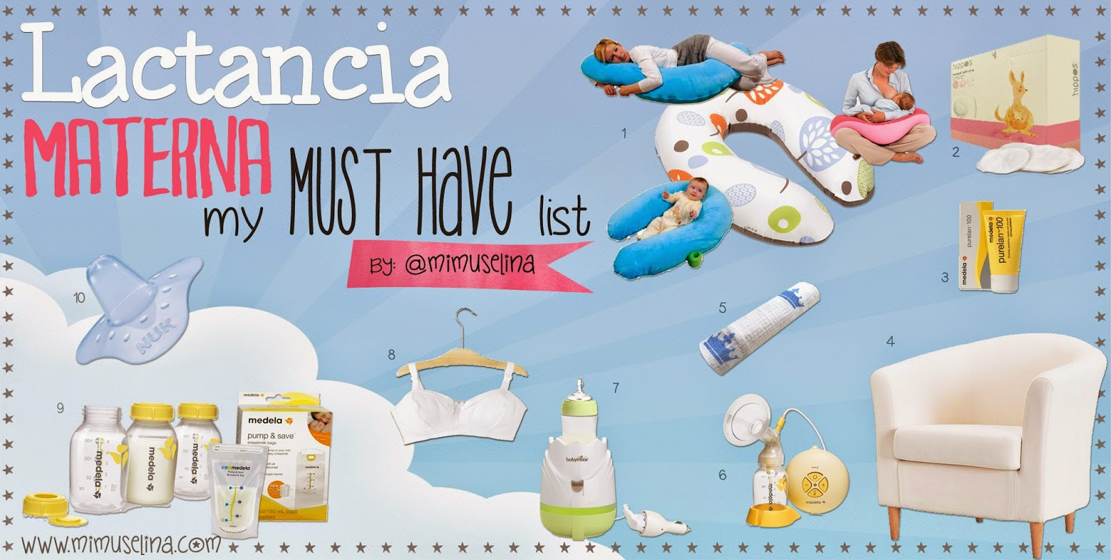 Herramientas Lactancia materna Must Have List imprescindibles