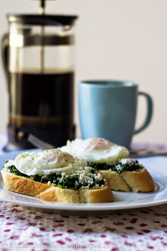 The poached egg toast with spinach and feta recipe has all the nutrients your body needs for a healthy morning start