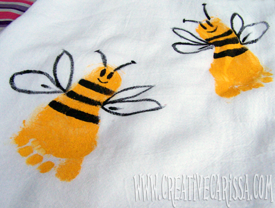 A footprint bee towel would make a great gift!