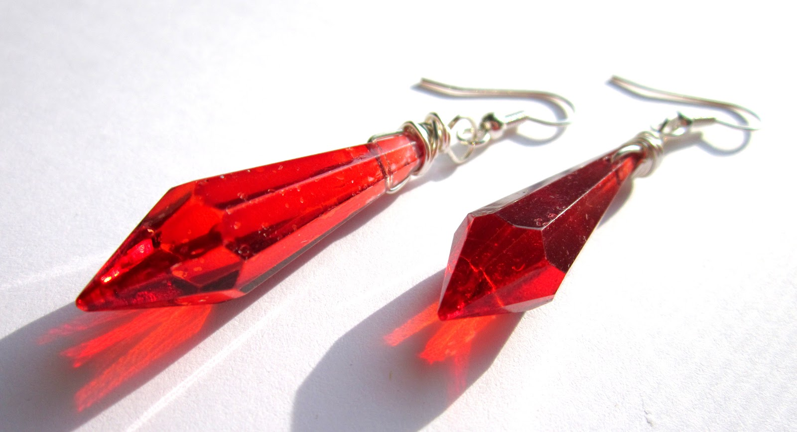 Bb bellezza handcrafted jewelry upcycled red chandelier crystal upcycled red chandelier crystal earrings arubaitofo Gallery
