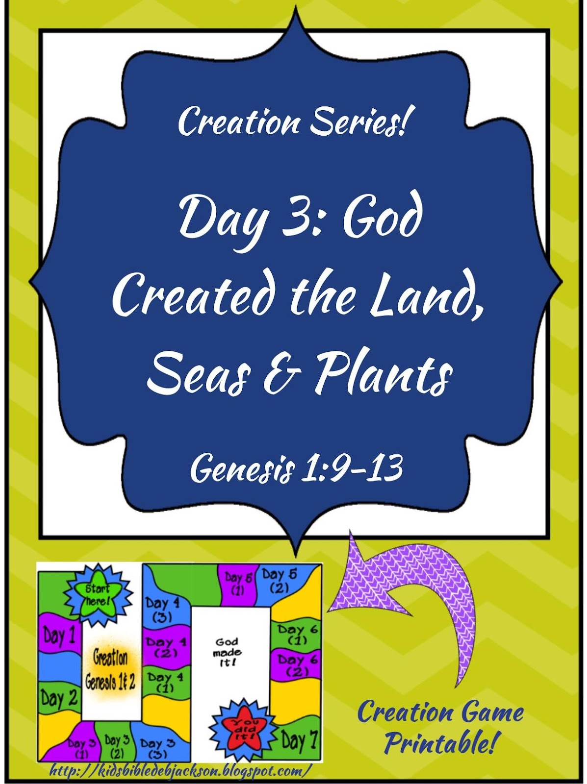 http://kidsbibledebjackson.blogspot.com/2015/01/the-creation-for-kids-day-3.html