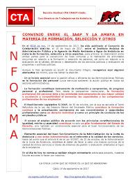 CONVENIO ENTRE EL IAAP Y LA AMAYA EN MATERIA DE FORMACIÓN, SELECCIÓN Y OTROS