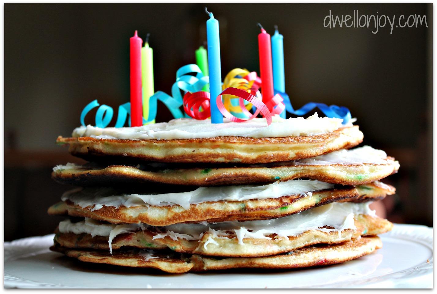 Cinnamon Pancake Birthday Cake Pancake