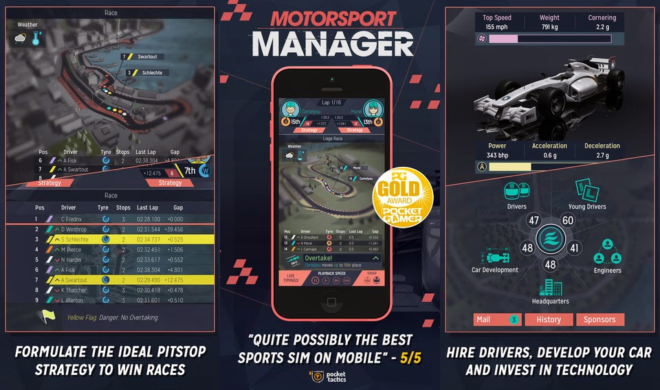 Motorsport Manager Gameplay IOS / Android