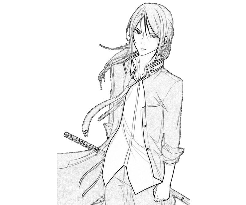 kuroh-yatogami-character-coloring-pages