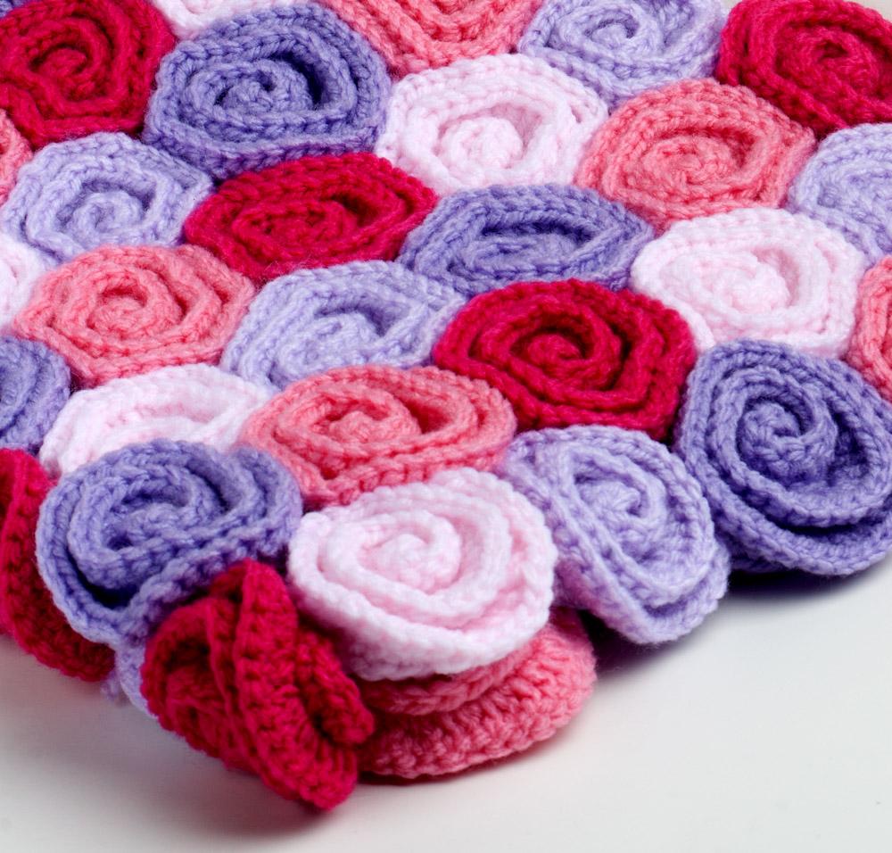 Yarn Twist: Rose Field Baby Blanket