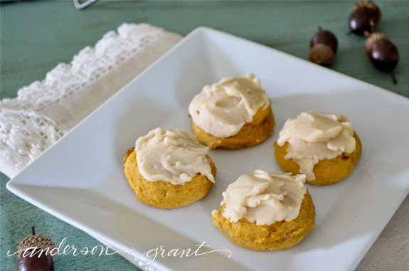 anderson + grant: Cranberry Pumpkin Cookies with Burnt Butter Icing