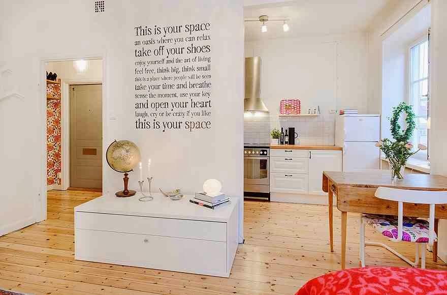 Skandynawskie wnętrze mieszkania, białe wnętrze i skandynawskie inspiracje