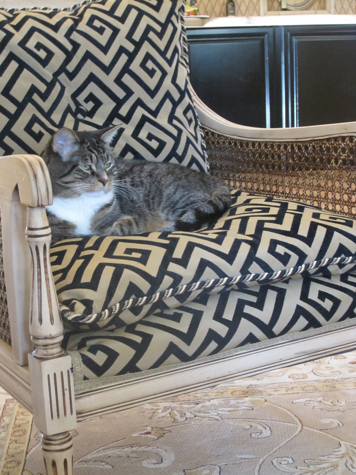 Superbe Iu0027m Not The Only One At Our House Who Loves A Classic Greek Key Fabric!