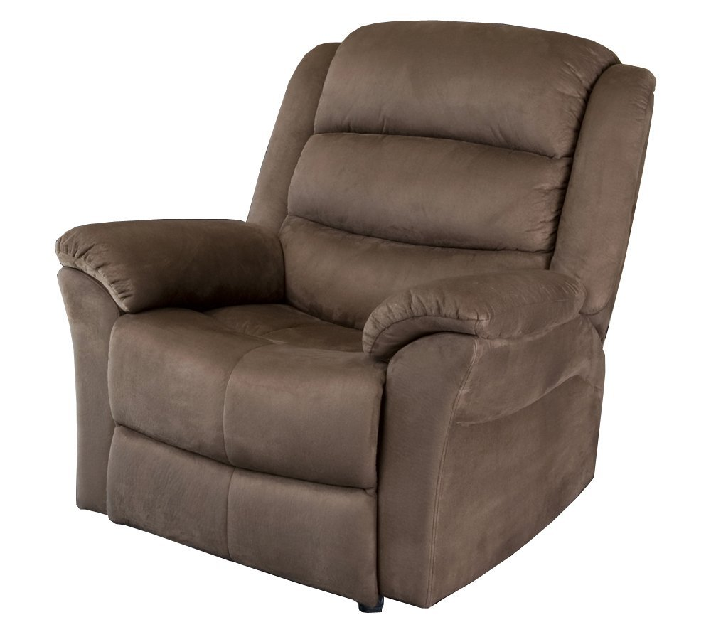 abbyson living sydney dark brown microsuede rocker recliner