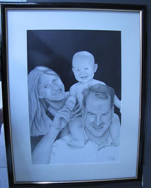 Roland, Karin e o Alexander ainda bebe