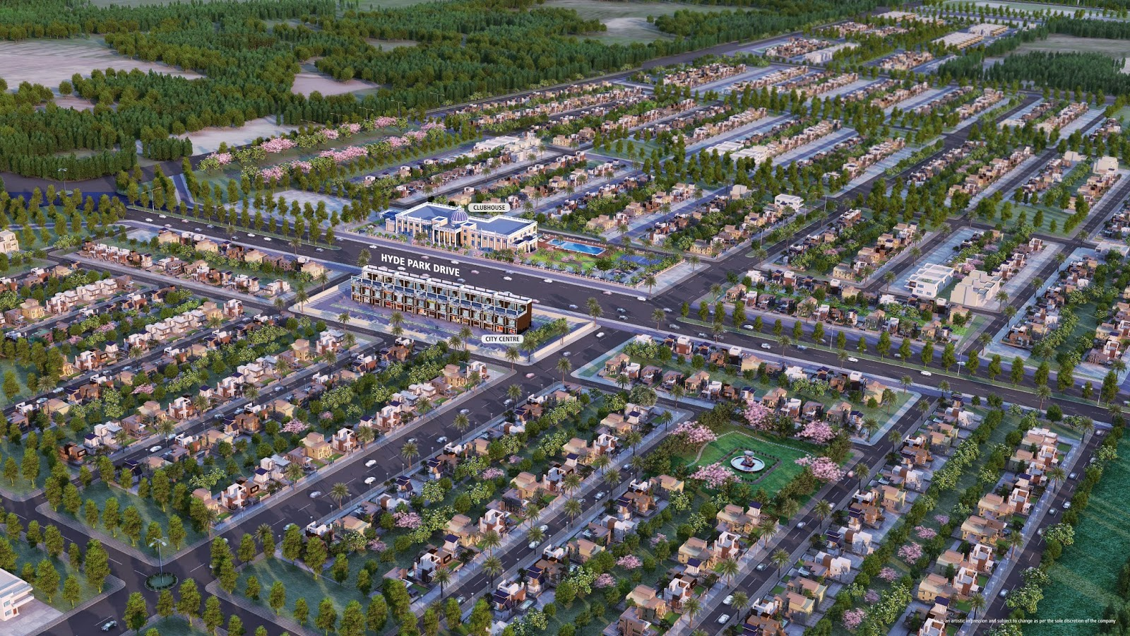 DLF Hyde Park Mullanpur New-Chandigarh arial view