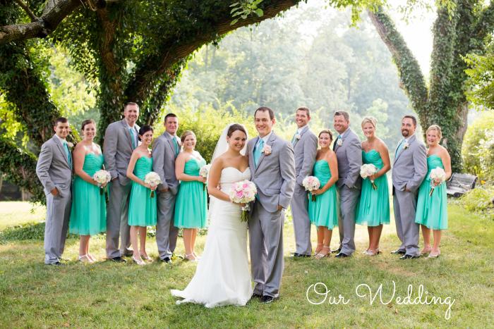 Teal and grey wedding | Meet the B's