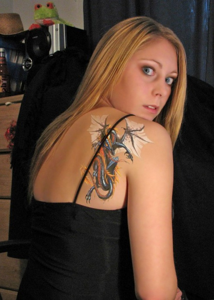 Shoulder Blade Tattoos For Women