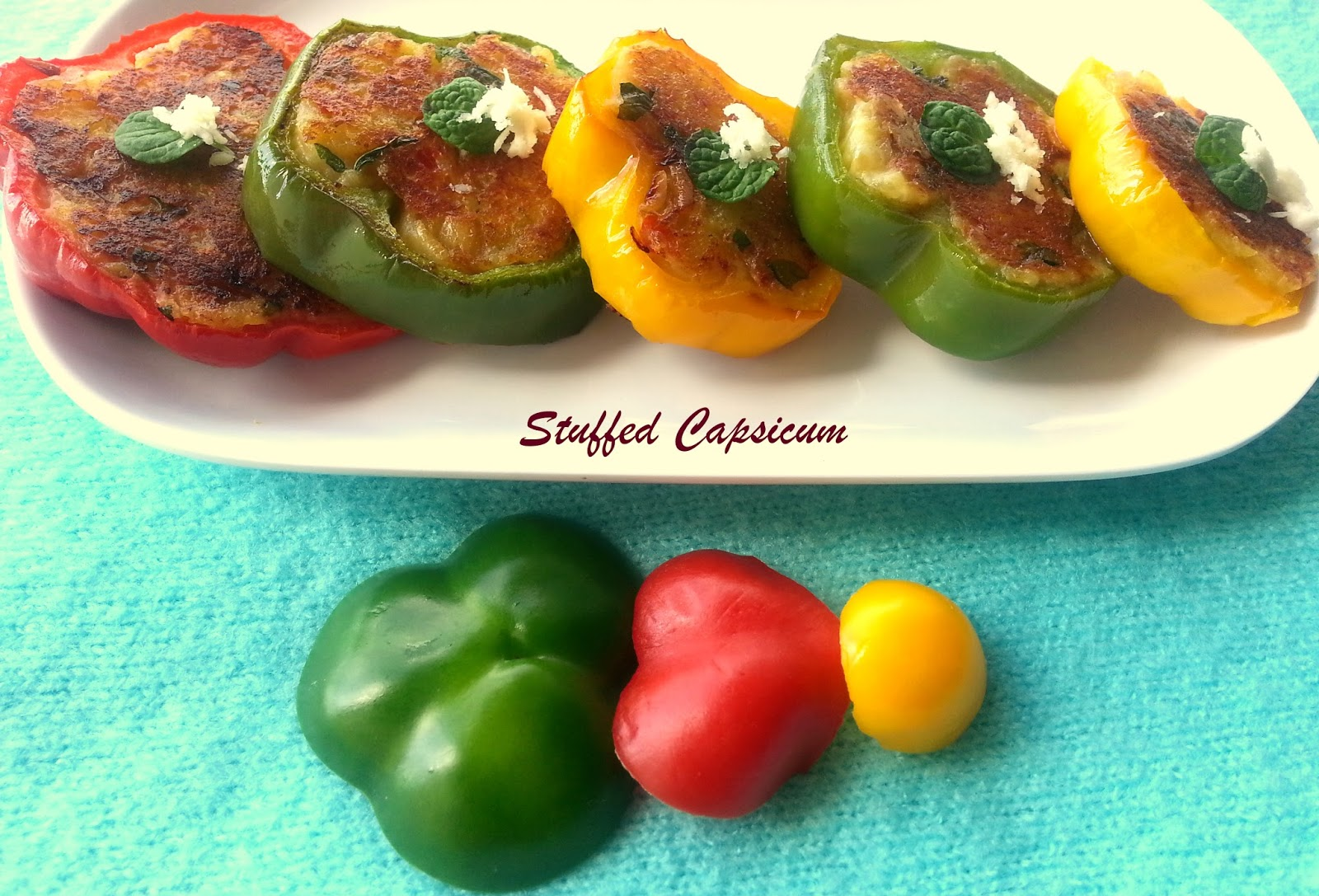 Annapurna stuffed bell peppers vegetarian starter recipe stuffed bell peppers vegetarian starter recipe forumfinder Gallery