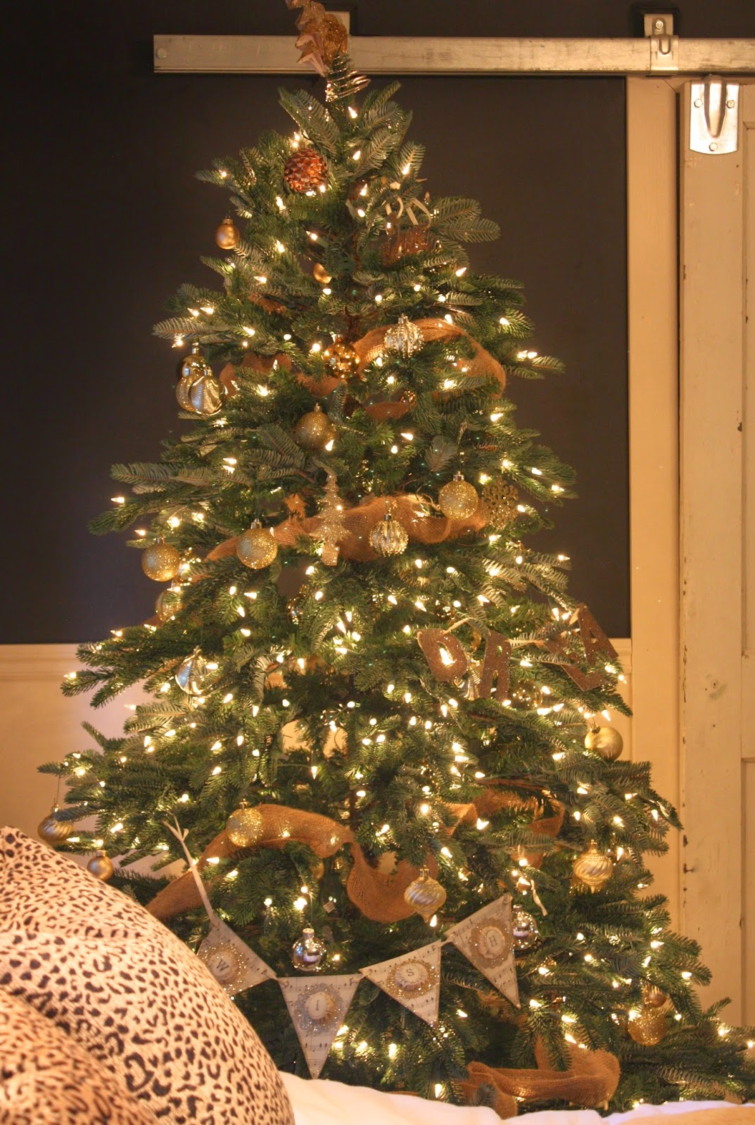 White And Silver Decorated Christmas Tree