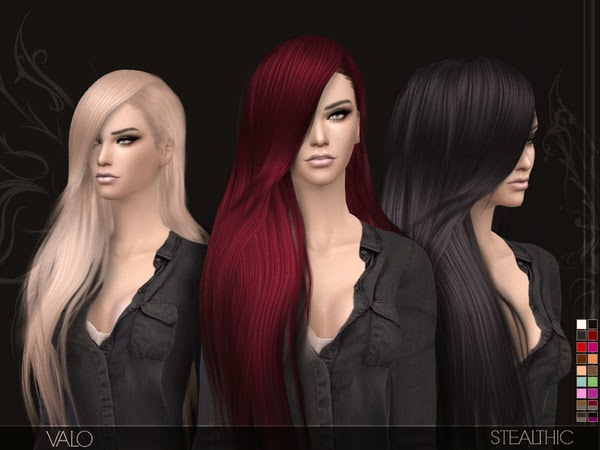 My Sims 4 Blog: Stealthic Valo Hair for Females