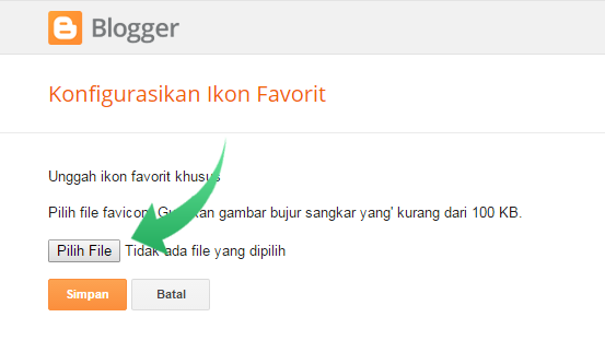Cara Mengganti ICON Favicon Blog di blogger