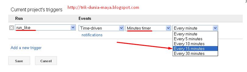 Cara Menyetting Tigger di Google Script