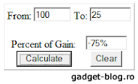 Percentage difference calculator