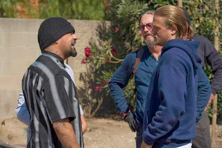 SONS OF ANARCHY Los Fantasmas recap -- Episode 608 -- Airs Tuesday, October 29, 10:00 pm e/p) -- Pictured: (L-R) Rey Gallegos as Fiasco, Tommy Flanagan as Filip 'Chibs' Telford, Charlie Hunnam as Jackson 'Jax' Teller
