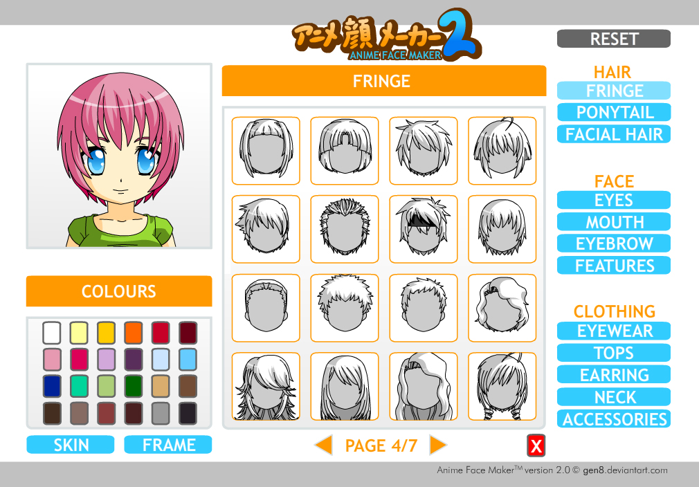 present to you Anime Face Maker 2.0 developed by Gen8 from ...: www.macsstuff.net/photobov/anime-face-maker-two