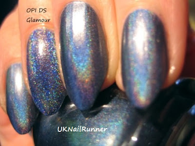 China Glaze Hologlam Strap on Your Moonboots  / OPI DS Glamour