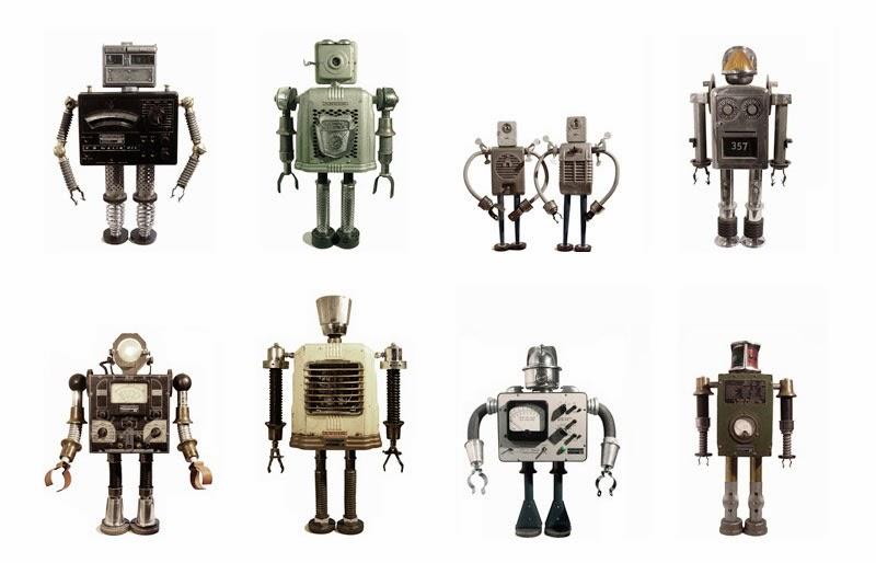 Fantástica muestra de toy art robots
