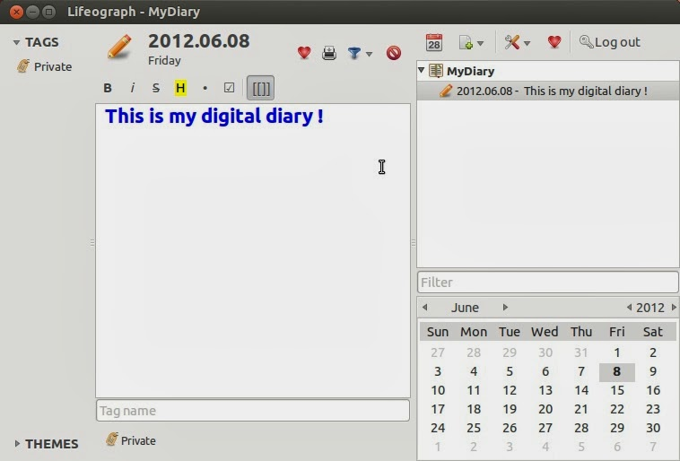 free  daily diary writing software